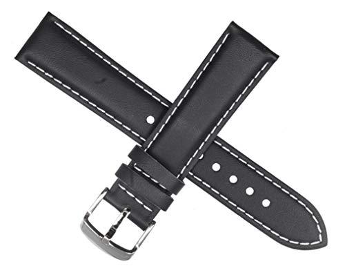 Casio - Correa de reloj para EF-503L EF 503L 503 (piel), color negro