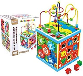 Al Ostoura Toys Intelligence Around The Beads Educational Wooden Toy