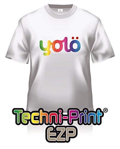 yolö creative 25 x fogli a4 di trasferimento techni-print® ezp laser termico carta t-shirt/trasferimenti