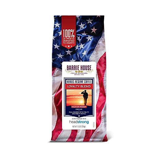 Barrie House Heroes Reserve Loyalty Blend   Medium Roast 100% Arabica Ground Coffee   Supporting Our Veterans In Partnership With Headstrong Project   10oz Bag