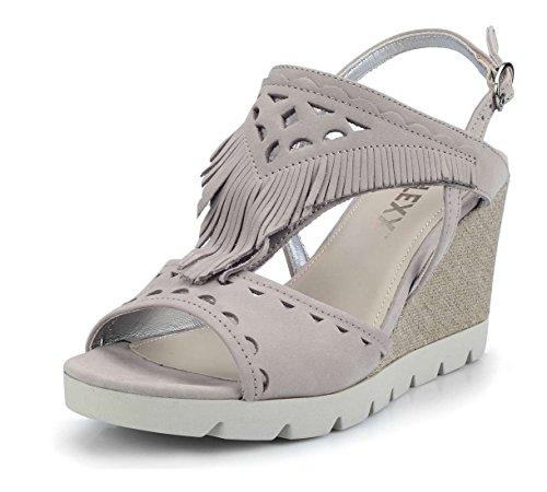 The FLEXX Pow Wow Sandalo Zeppa Donna Grigio Chiaro 37 EU
