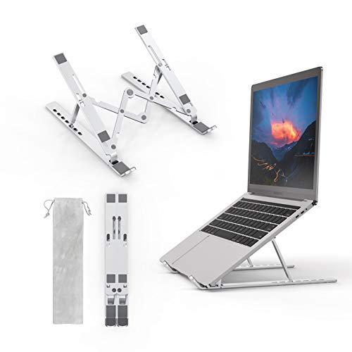 """Soporte Portátil Plegable Ajustable Soporte para Ordenador Portátil Aluminio Ventilado Laptop Stand Ergonomic 7 Ángulos Soporte para Portátil para MacBook Air Pro/HP/Lenovo/Dell/More 10-15.6"""" Laptops…"""