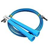 gfjfghfjfh Saltar Cuerdas de Saltar Cable Cable de Acero Velocidad rápida Ajustable Manija ABS Cuerdas de Saltar Flexibles Entrenamiento de Crossfit Boxeo Deportes Ejercitador