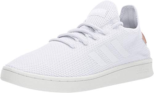 adidas Women's Court Adapt, White/White/dust Pink, 8 M US