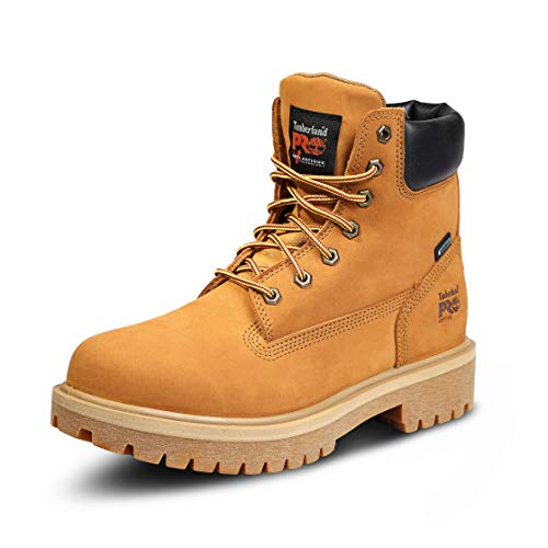 Timberland PRO Men's Direct Attach Six-Inch Soft-Toe Boot, Wheat Nubuck,9 M