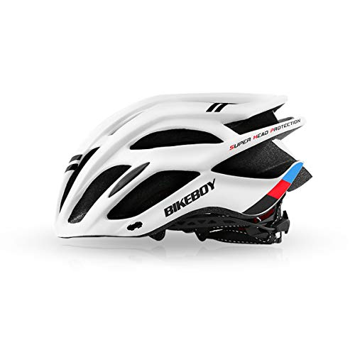 Zeroall Casco Bici Leggero Casco da Bicicletta 58-60cm Regolabile Mountain Bike Bicycle Helmet Casco da Ciclismo per Donna e Uomo Scooter Skateboard Bicicletta(Bianco)