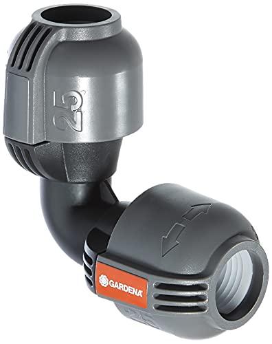 Gardena 2773-20 Raccordo a L per Sistema Pop-Up, Raccordo per Diramazione del Tubo di Linea, 25 mm, Quick&Easy, Compatibile con Tubi Gardena 25 mm
