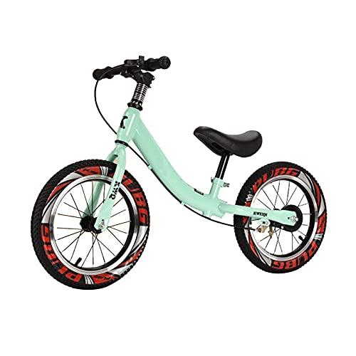 Bicicleta Sin Pedales Equilibrio 14 Pulgadas / 16 Pulgadas Bicicleta de Equilibrio con Freno de Mano Delantero, para Las Niñas Tall Boy, Marco de Acero para Principiantes Bicicleta Sin Pedales para 4,