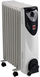 comprar comparacion FM Calefacción BR-20 Negro, Gris 2000W Radiador - Calefactor (Radiador, Piso, Negro, Gris, Giratorio, 2000 W, 800 W)