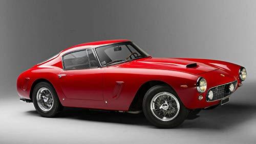 GUANGMANG 5D Diamond Painting Kit Para Niños,1962 Ferrari 250 Gt Red Style Auto Car Taladro Completo Cristal Pintura Diamante Para Adultos/Hogar/Decoración/Regalo (40X60Cm)
