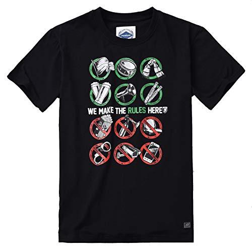 PG Wear Herren T-Shirt Our Rules schwarz weiß S-XXXL (M, Schwarz)