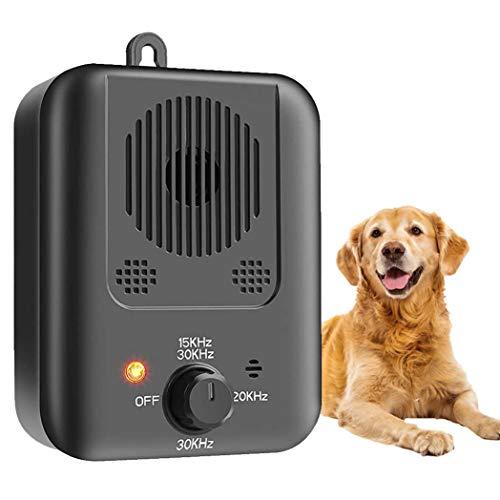 CYWEB Ultraschall Anti-Bell Gerät, Sicher Hundetrainingsgerät Abschreckung Antibellen, Wiederaufladbarer Erziehung Hundebellen Abschreckung