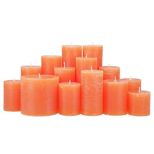 4,5 Kilo Stumpenkerzen durchgefärbt von Kerzenwelt, 1. Wahl, Kerzenpaket Kerzenset (orange)