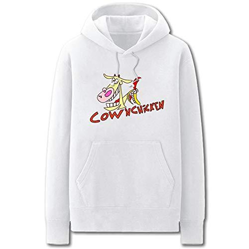 Wasdjkge Cow and Chicken Pullover Sudadera clásica Ocio Deportes Sudadera con Capucha Moda Impresa Sudaderas con Capucha Sudadera Unisex