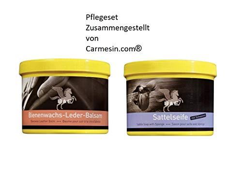 B & E Bienenwachs Lederbalsam + Sattelseife Set a 500 ml Polsterreiniger, Lederreiniger Handtaschen, Schuhe