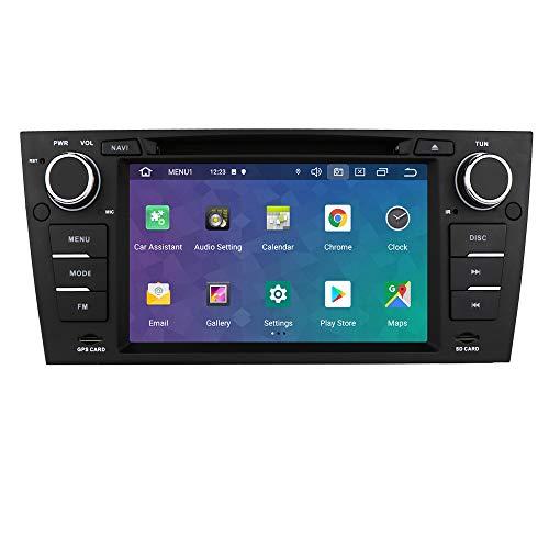 Android 10 Autoradio per BMW 3 Series E90/E91/E92/E93 2006-2012 Radio Bluetooth Comandi al Volante 1080P HD GPS Navi DVR DSP 4G USB Wifi Retrocamera Ingresso DAB+ Lettore DVD Pulsanti LED