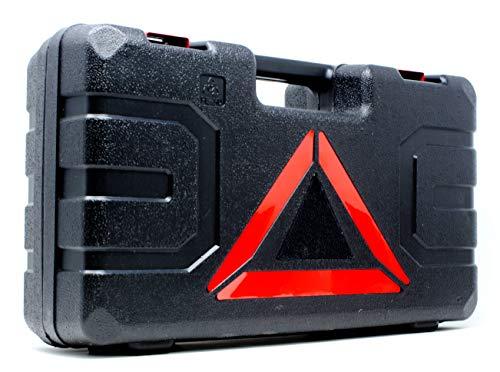 VViViD Electric Automotive 3-Ton Scissor Tire Jack Kit Including Impact Resistant Carrying Case