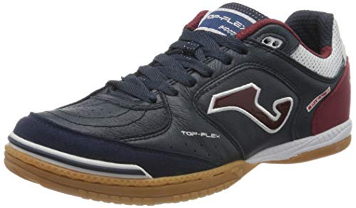 Joma Top Flex, Zapatilla de fútbol Sala, Navy-Granate, Talla 8,5 USA (42 EUR)