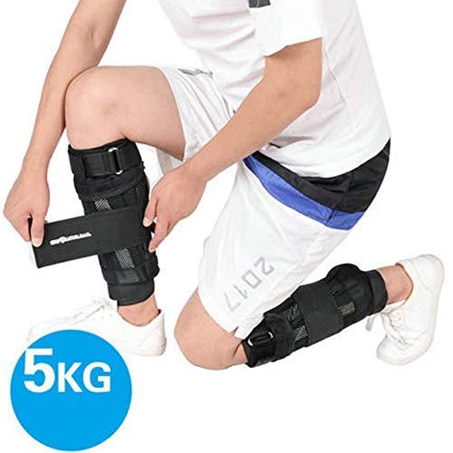 Gewichtsmanschetten 2er Set Hochwertiger Handgewichte/FußGewichte Verstellbares FußGelenkgewichte Set Ankle Straps Klettverschluss black-5kg