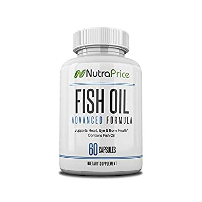 NutraPrice Pure Fish Oil 2000 mg with Omega-3 Fatty Acids EPA and DPA, Daily Supplement for Men and Women, Advanced Formula to Support Heart, Eye, Bone, Joint Health, Made in USA, 60 Softgel Capsules