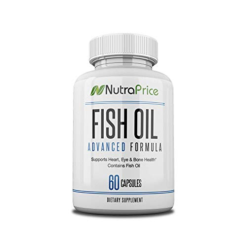 NutraPrice Fish Oil 2000 mg Omega-3 Fatty Acids EPA and DPA, Daily Supplement for Men and Women, Advanced Formula to Support Heart, Eye, Bone, Joint Health, Made in USA, 60 Soft Gel Capsules (1pk)