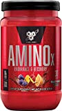 BSN Amino X Muscle Recovery & Endurance Powder with BCAAs, 10 Grams of Amino Acids, Keto Friendly, Caffeine Free, Flavor: Fruit Punch, 30 Servings (Packaging May Vary)