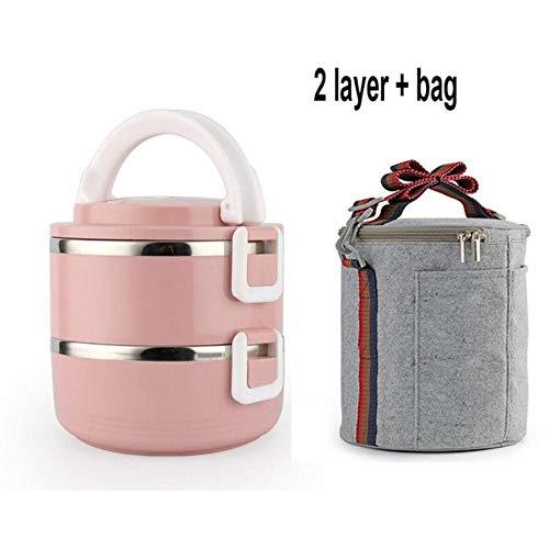 Kiu Lunchbox voor de hitte, roestvrij staal, 1 stuks, voor volwassenen, bento-box, houder voor levensmiddelen, picknick, draagbaar