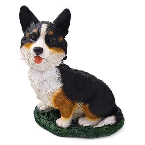 Animal Den Corgi Cardigan Dog Bobblehead Figure Toy for Car Dash Desk Fun Toy Accessory