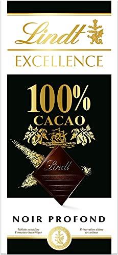 Lindt - Tablette 100% Cacao EXCELLENCE - Noir Profond - 50g