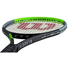 OVERALL: The Blade is a Very Popular Advanced Player Racquet. This V7 model feature a softer and stable feel TECHNOLOGIES: Uses technologies introduced in the Wilson Clash series developed with computer aided design techniques. Free Fles permits high...