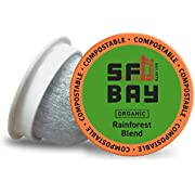 SF Bay Coffee Organic Rainforest Blend 36 Ct Medium Roast Compostable Coffee Pods, K Cup Compatible including Keurig 2.0 (Packaging May Vary)