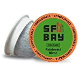SF Bay Coffee Organic Rainforest Blend 120 Ct Medium Roast Compostable Coffee Pods, K Cup Compatible including Keurig 2.0 (Packaging May Vary)
