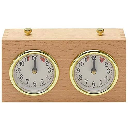 Dulcicasa Reloj de ajedrez de precisión de madera, reloj digital internacional, reloj de ajedrez portátil