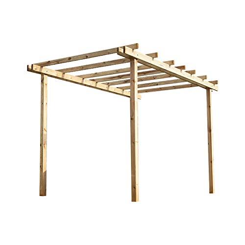 Pergola autoportante 300x400 cm in legno di pino massello impregnato in autoclave gazebo pergola da giardino made in Italy