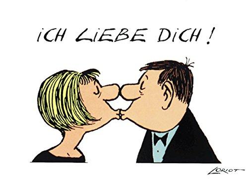 Postkarte A6 • 032 ''Ich liebe Dich'' von Inkognito • Künstler: Loriot • Satire
