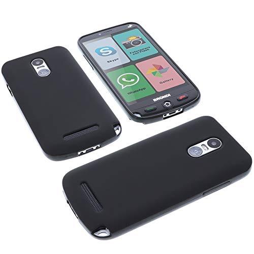 foto-kontor Custodia per cellulari Brondi Amico Smartphone 4G in Gomma TPU di Colore Nero (esclusivamente per la Versione 4G)