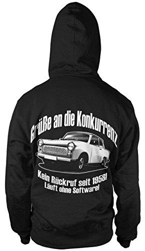 Trabi Fun Kapuzen-Sweatshirt Hoodie Kapuzen-Pullove DDR Zone Oldtimer zweitakt