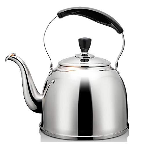 Bouilloire 304 en Acier Inoxydable Teakettle Teakettle Sifflet Cuisinière À Gaz De Grande Capacité À Induction MUMUJIN (Capacity : 3L)