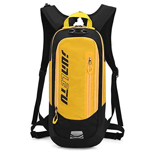 Mochila impermeable de 10 L para bicicleta de los hombres y las mujeres de MTB bicicleta de montaña bolsa de agua de nylon ciclismo senderismo camping correr mochila de hidratación amarilla