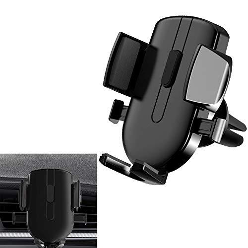ZDZHU Autotelefonhalterung, Universal-Autolüftungsschlitz-Telefonhalter mit Einer Taste und 360 ° -Drehung für iPhone X / 8/7 / 6s / Plus/Samsung S9 / S8 / S7,B