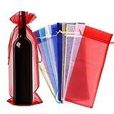 30 bolsas de organza para vino, bolsa de regalo para botella de vino con...