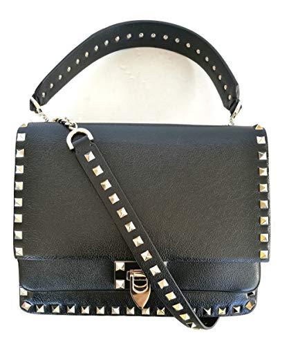Valentino pochette borsa donna a mano + tracolla in pelle SW0B0F43GHF nero