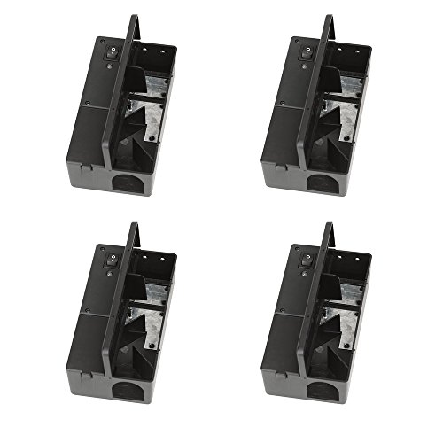 Victor M2524S Electronic Mouse Trap (Pack of 4), 4 Pack, Black