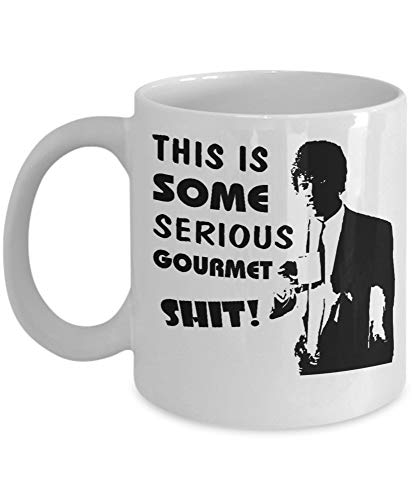 THIS IS SOME SERIOUS Gourmet Shit Goddamn, Jimmy Coffee Mug, Funny, Cup, Tea, Present For Christmas, Fathers Day, Xmas, Dad, Anniversary, Mothers Day, Papa, Heart ZO2ATV