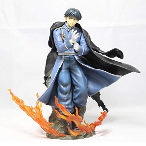 LU-Model Anime Figuren Fullmetal Alchemist Roy Mustang Umhang Dazo 1/8 Spielzeug Handgefertigte Modell Mit Basis Dekoration Box 22CM