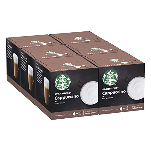 Starbucks Cappuccino By Nescafe Dolce Gusto Coffee Pods, 6er Pack (6 x 12 capsules) (36 Servings)