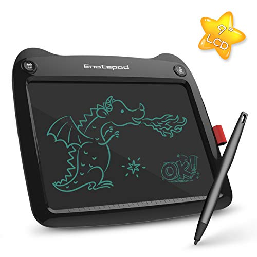 Enotepad LCD Writing Tablet 9 inch, Drawing and Painting Writing Board, Doodle Boards for Kids & Adults, Great Gift Black