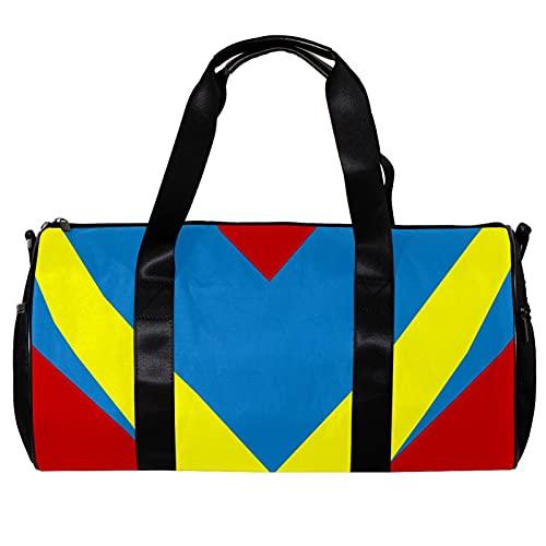 Bolsa de viaje para mujeres hombres abstractos V estilo deportes gimnasio bolsa de mano fin de semana durante la noche bolsa de viaje al aire libre equipaje bolso