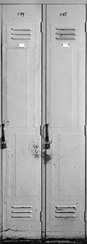 Plage Casillero Trampantojo de Puerta, Vinilo, Gris, 83x204 cm