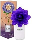 ECO HAPPY Ambientador de Flor Perfumada Que Cambia de Color. Fragancia a Mora Silvestre, Dulce y afrutada de Larga duración. 75 ml.